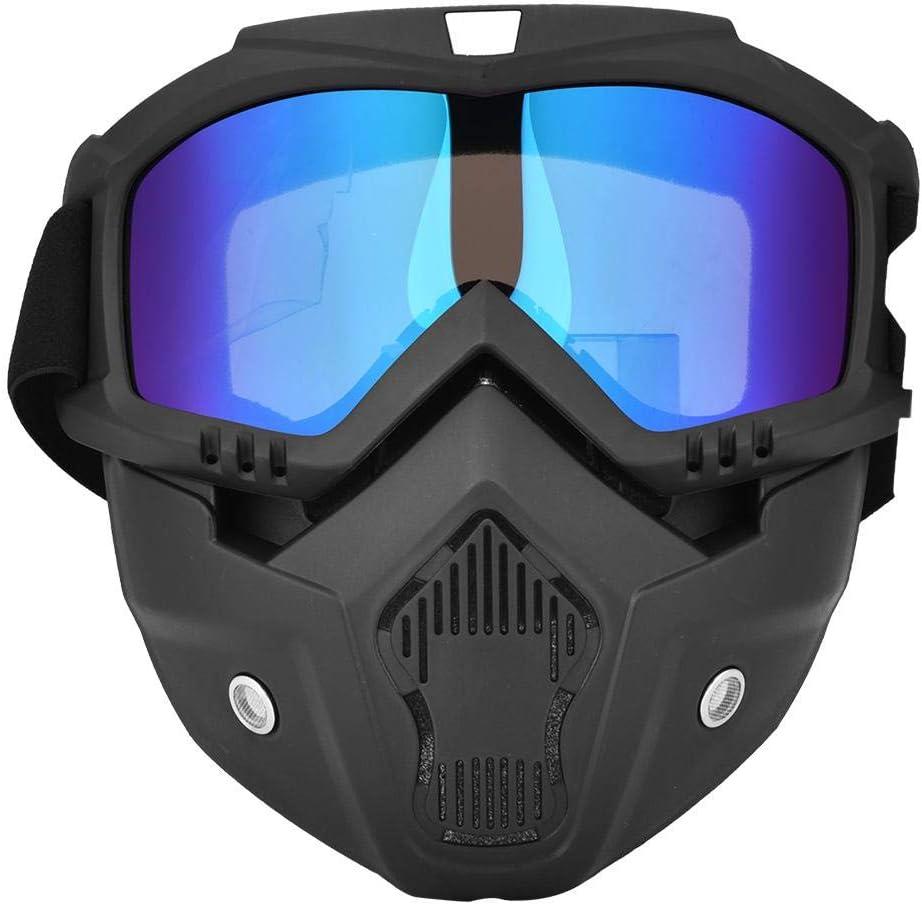 Alomejor Protecci/ón Facial Gafas Protectoras Moto de Nieve Motocicleta Proteger Gafas contra el Viento y protecci/ón Ultravioleta para Deportes de Nieve en Invierno