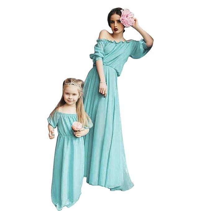 ae3746d544 Mother Daughter Dresses Chiffon Bohemian Strapless Beach Dress ...