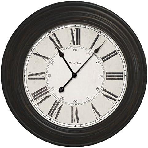 Westclox 844220008350 24 Large Decorative Wall Clock 32213VBK, 24 inches, Black