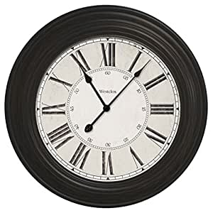 decorative wall clocks 24 quot large decorative wall clock 32213vbk home 30134