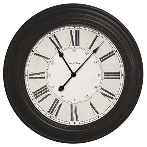 24″ Large decorative wall clock 32213VBK For Sale