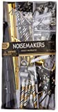 Amscan Black, Gold and Silver New Year's Eve Party Horns & Blowouts, NYE Party Supplies, 50 Pieces