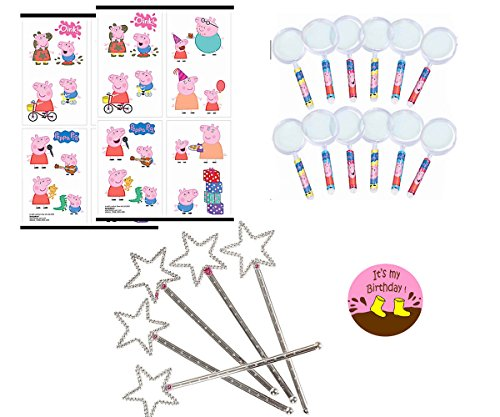 Peppa Pig Party Favors For 12 - Peppa Pig Magnifying Glasses