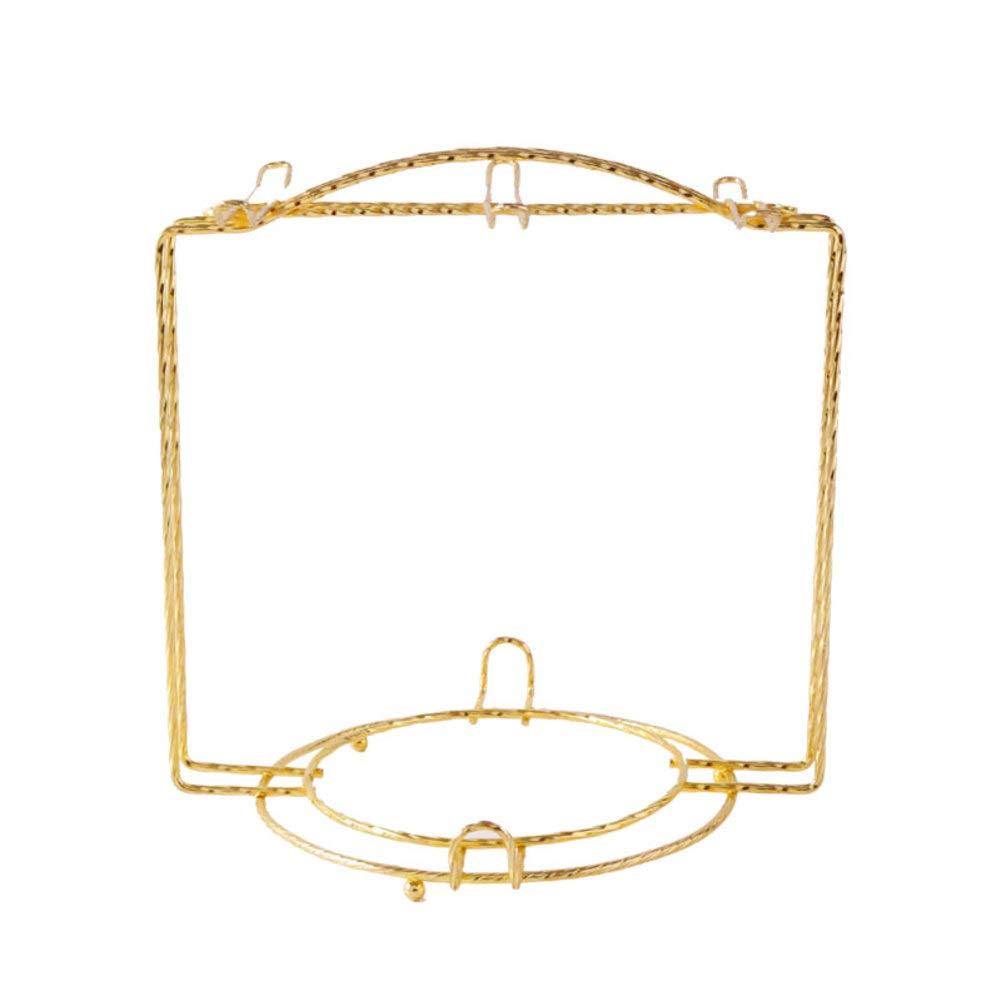 HUIYUE Gold Mug Holder,European Stainless Steel Coffee Cup Rack,Cup Holder Kitchen Cup Organizer -B 19x19cm(7x7inch)