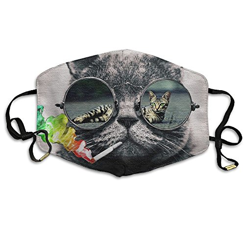Unisex Cool Cat Face Glasses Fall Winter Breathing Mask Anti Pollution Cycling Mouth Face - Fat Glasses Faces Men For