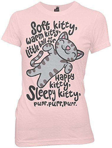 Big Bang Theory Soft Kitty Junior T-Shirt Tee Pink (Medium)