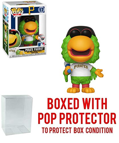 POP! Sports MLB Mascots Pittsburgh Pirates, Pirate Parrot #17 Action Figure (Bundled with Pop Box Protector to Protect Display Box) (Mascot Figure Pirate)