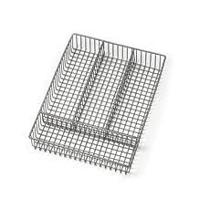 Spectrum Diversified Grid Silverware Tray, Small, Satin Nickel