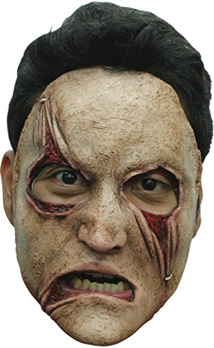 Ghoulish Serial Killer Half Face Latex Mask (Killer Masks)