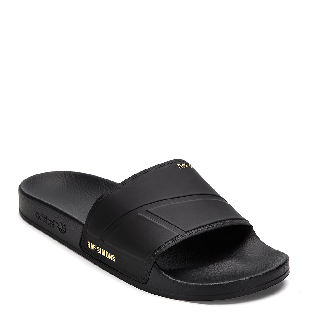 Adidas X Raf Simons Men's Bunny Adilette Slide Slipper BY9813 Black UK 4 / US 4.5 D(M)