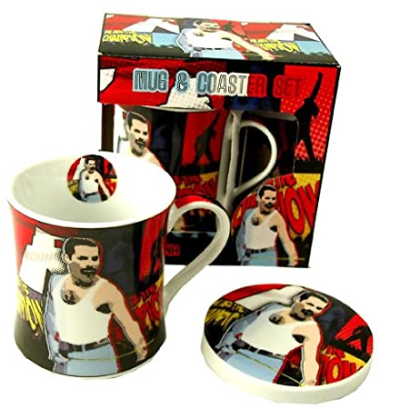 Freddie Mercury Mug And Coaster Set