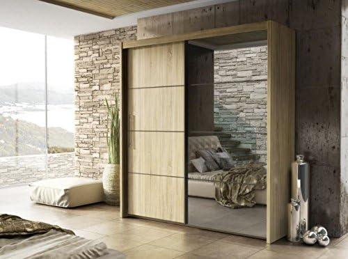 Inova Un diseño Moderno y Armario para Puertas correderas de Madera de Roble Sonoma 150 cm Factor de Forma de Arthauss: Amazon.es: Hogar