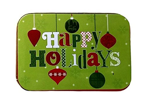 [해외]크리스마스 선물 카드 소지자 틴 박스 눈사람과 해피 홀리데이 4 팩/Christmas Gift Card Holders Tin Box Snowman and Happy Holidays 4 Pack
