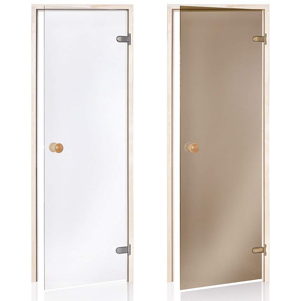 AD Standart Saunat/üren Espe oder Erle Abmessungen der /Öffnung 60 x 190//70 x 190//70 x 200; Glasfarbe Transparent oder Bronze; Rahmenmaterial