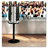SmartStock Cutlery Dispenser, Stand, 18-1/4 dia x 42h, Black, Sold as 1 Each