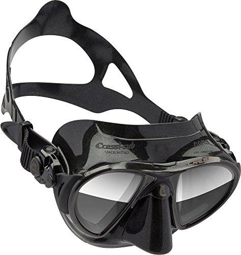 Cressi NANO Expert Adult Compact Mask for Freediving & Scuba Diving, Black