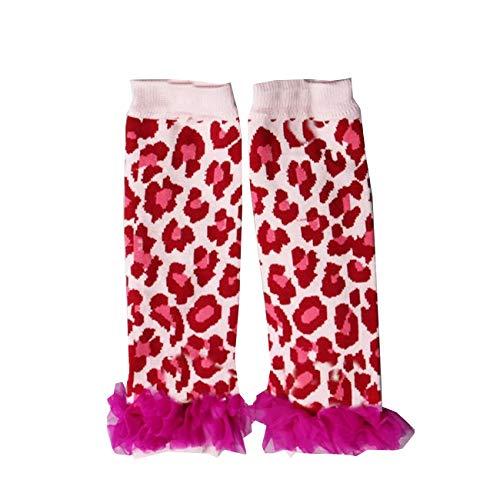 Leopard Leg Warmers - Kirei Sui Baby Hot Pink Leopard Ruffle Leg Warmers