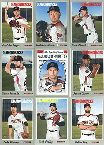2019 Topps Heritage Baseball Arizona Diamondbacks Team Set of 13 Cards: Ketel Marte(#35), Zack Godley(#47), Robbie Ray(#51), David Peralta(#57), Jake Lamb(#75), Archie Bradley(#81), Luke Weaver(#190), Brad Boxberger(#268), Yoshihisa Hirano(#275), Nick ()