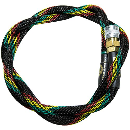 AMPED Airsoft Amped Line   Heavy Weave for PolarStar, Wolverine, and Redline HPA Units 42 Inch Reggae Heavy