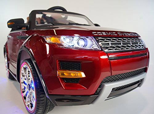 Ride on car LAND ROVER remote control! Range Rover red for children electric car jeep power wheels. OPENING DOORS! 12V BATTERY TOTAL! Leather seat! Girl and Boy 2 to 7 years! - Girls Power Wheels Two Seats