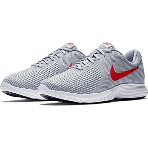NIKE Men's 4 white Grey Running Red stealth Wolf Revolution Shoe Gym 66rxFS