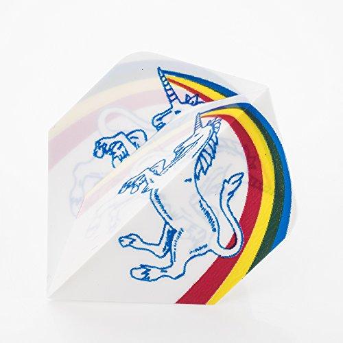 - PerfectDarts 1 x Set Unicorn Rainbow White Dart Flights Standard