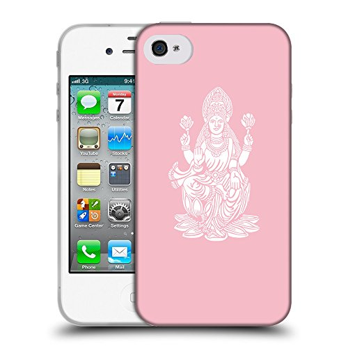 GoGoMobile Coque de Protection TPU Silicone Case pour // Q09540630 Hindou 8 Rose // Apple iPhone 4 4S 4G