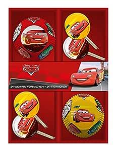 P: os 25689 – 24 moldes con 24 banderitas Disney Pixar Cars, en cartón de Regalo