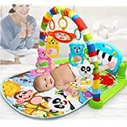 3 in 1 Cute Rainforest Musical Lullaby| Baby Activity Mat| Activity Gym For Baby 0-24Months