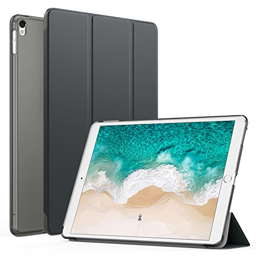 MoKo Case Fit iPad Pro 12.9 2017/2015 - Slim Lightweight Smart Shell Stand Cover with Translucent Frosted Back Protector Fit Apple iPad Pro 12.9 Inch 2017&2015, Space Gray (with Auto Wake/Sleep)