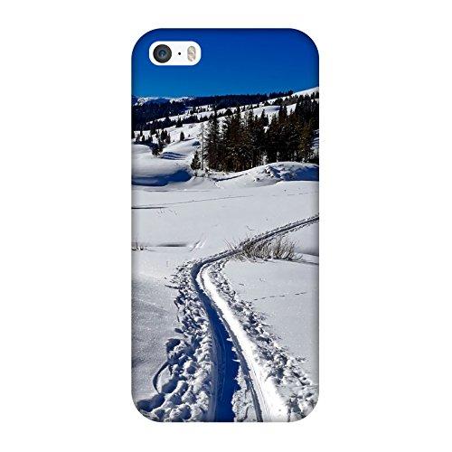Coque Iphone 5-5s-SE - Yellowstone-Neige-Montagne