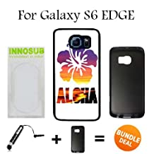 Aloha Sunset Surf Beach Custom Galaxy S6 EDGE Cases-Black-Rubber,Bundle 2in1 Comes with Custom Case/Universal Stylus Pen by innosub