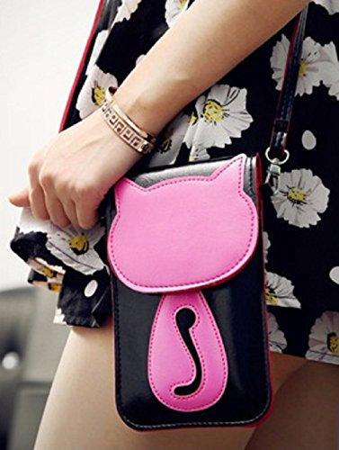 Süße bonbonfarbene Kunstleder-Umhängetasche | Schultertasche | Kosmetiktasche | Handytasche für Mädchen u. junge Frauen 0h4E3Z