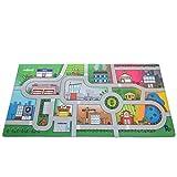 "Milliard Car Rug Road Play Mat - Jumbo: 39 x 79"" Luxurious Memory Foam, 'My City' Large Activity Floor Carpet"
