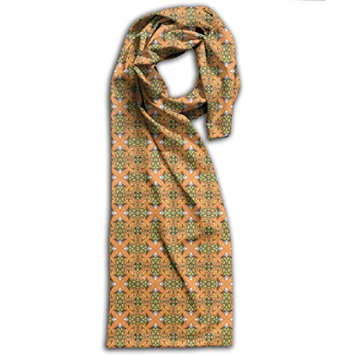 YSUDSKQ Women and Girl Winter Warm Scarf Stylish Shawl 100% Polyester French Garden Parterre Fabric Scarves