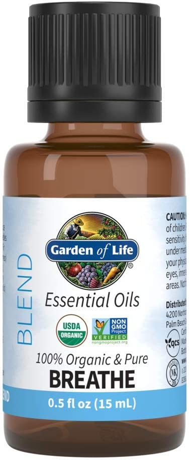 Garden of Life Garden Of Life Organic Essential Oil, Breathe Blend, 0.5 fl. oz.