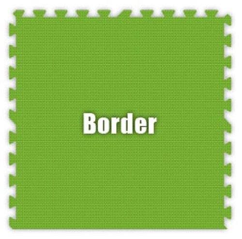 Premium SoftFloors Set in Lime Green Size: 2′ x 2′ Border Piece