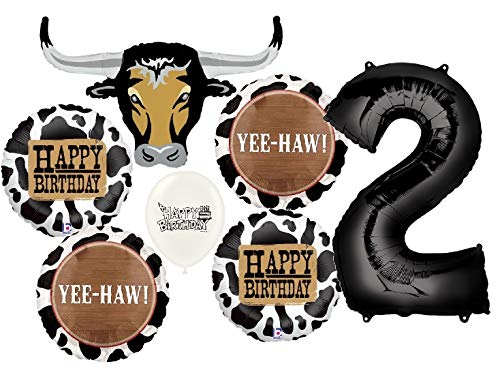 Ultimate Western Longhorn 2nd Birthday Party Event Bouquet of Balloons