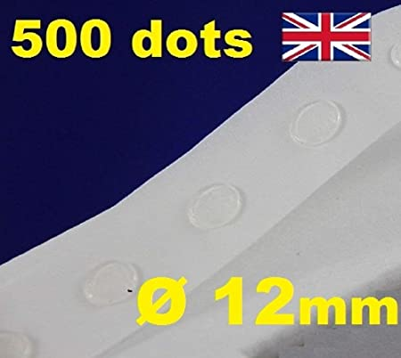 500 glue dots sticky craft clear card making scrap removable 12mm