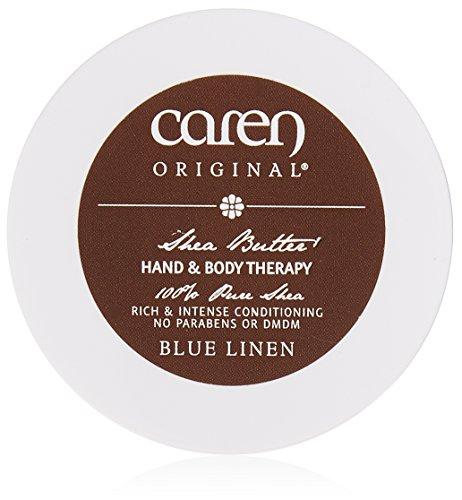 Caren Original Blue Linen Hand and Body Butter Cream, 2 Ounce