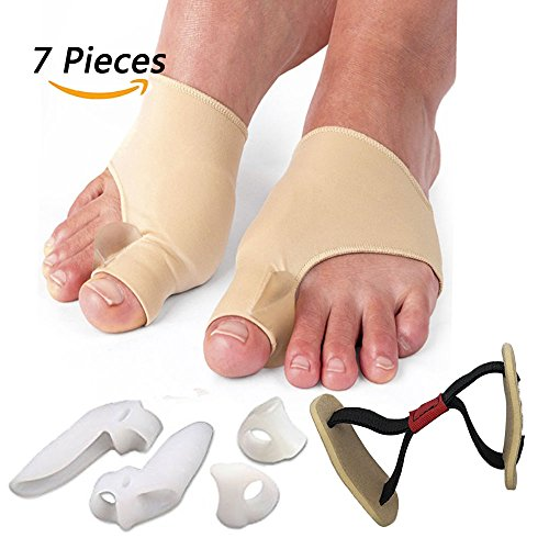 Bunion Corrector - Explore Lifez Bunion Relief Protector Sleeves and Gel Toe Separators Kit