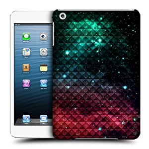 Head Case Designs Sparkling Red and Blue Studded Ombre Protective Snap-on Hard Back Case Cover for Apple iPad mini