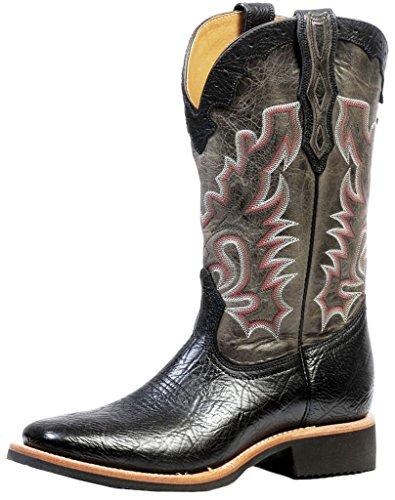 Bottes américaines - santiags: bottes de cowboy BO-4343-65-EEE (pied fort) - Homme - Noir