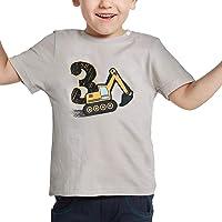 AMZTM 3º Cumpleaños Camión de Construcción Party Camiseta Bebé Niño Manga Corta