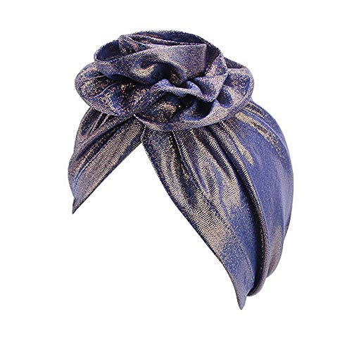 LEXUPA Women's Big Flower Muslim Cancer Chemo Hat Turban Cap Cover Hair Loss Head Scarf(One -