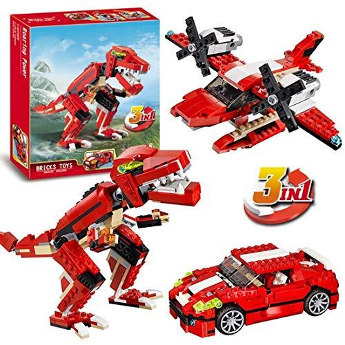 KNAFS 374 PCS Architect Series 3 in 1 Educational Roaring Power Blocks Learning Bricks Toy for Kids Creator Roaring Dinosaur Building Blocks for Child