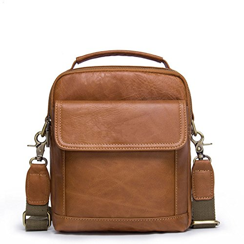 Gimitunus Leather Briefcase For Red Brown Shoulder Day Vintage Brown color School Messenger Work And Men's Crossbody Bag qXwrYX1