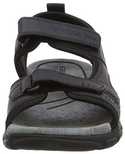 Geox U6224A0BC50 Nero Toe Uomo Black Peep 44wxapqr