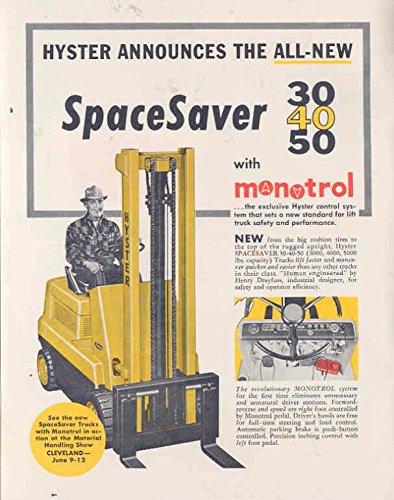1959 Hyster Forklift Truck Brochure Letter Postcard at