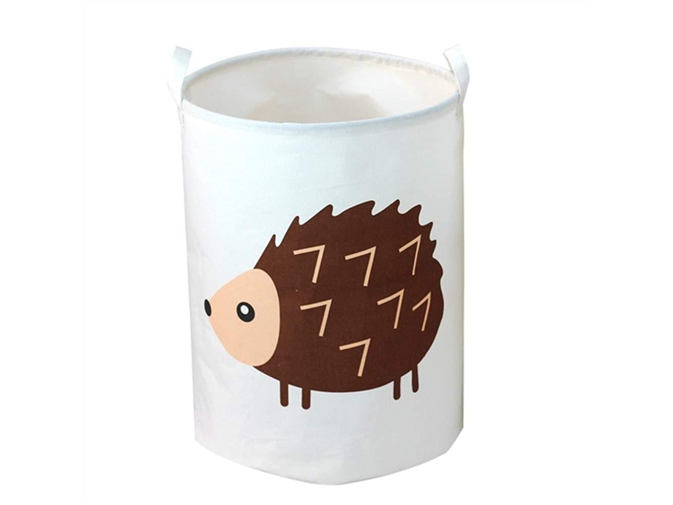 Storage Box Hedgehog Pattern Storage Box Canvas Box Sundries Storage Bucket (White)